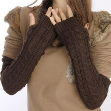 Fashion Arm Warmer  Long Section  Gloves Ladies And Girls winter and Autumn(China (Mainland))