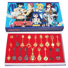 18pcs/set Fairy Tail Key Ring Lucy Ecliptic 12 Palace Constellation Keychain pendant Free Shipping(China (Mainland))