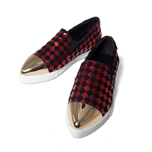 Large size 34-40 Sale driving shoes woman Flats for Women Horse hair leather grain Leather big size Shoes Women's pigskin lining(China (Mainland))