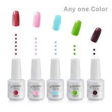 302 Colors 15ml Gelpolish Any Color Gel Lacquer Nail Art Soak Off UV Gel Nail Polish Colors(China (Mainland))