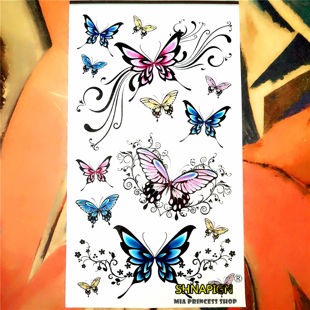 Popular flying butterfly tattoos buy cheap flying for Painless permanent tattoos