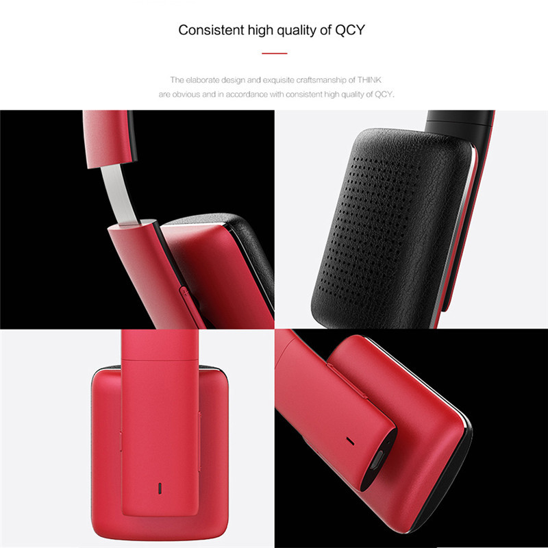 Top Quality Headset Original QCY 50 QCY50 HiFi Wireless Bluetooth 4.1 noise cancelling Headphones with mic for Mobile Phones