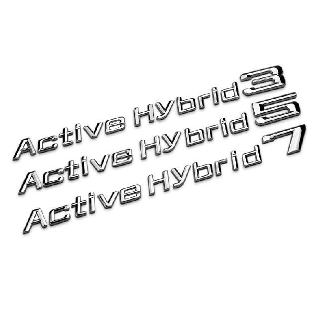 Sliver Active Hybrid 3 5 7 Electric Vehicle Metal Chrome Car Tail Decoration Stickers For i3 i5 i7 Decals Car accessories(China (Mainland))