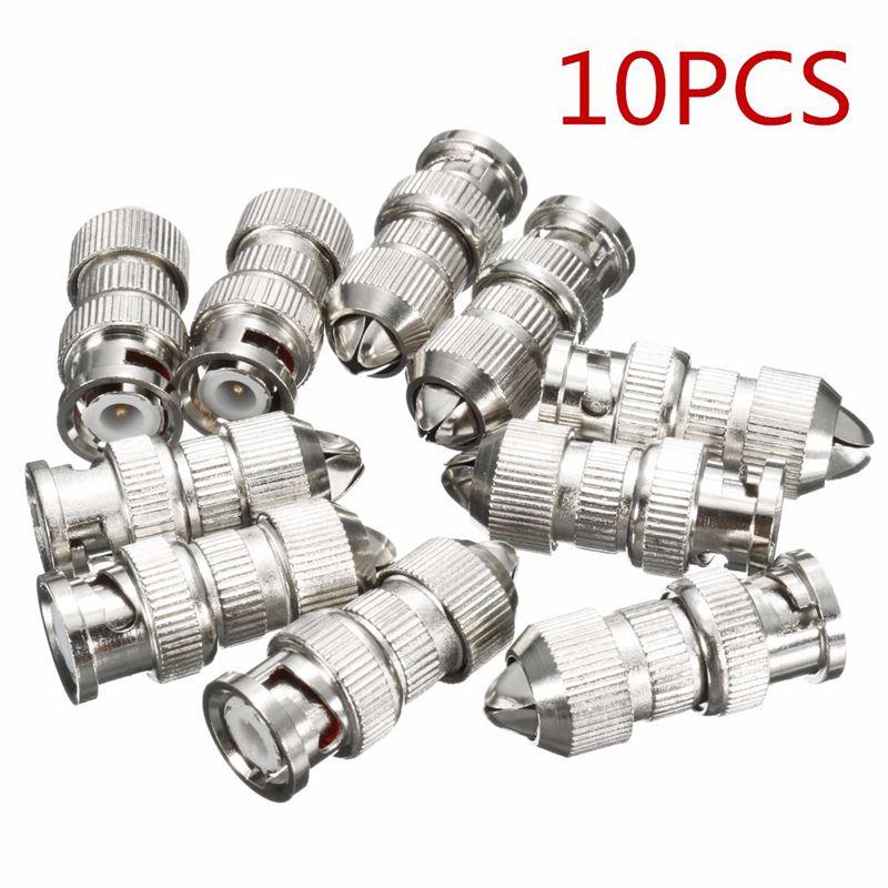 10Pcs BNC Screw Twist Connector Adaptor Plug Socket For Coaxial RG6 & RG59 CCTV Camera(China (Mainland))