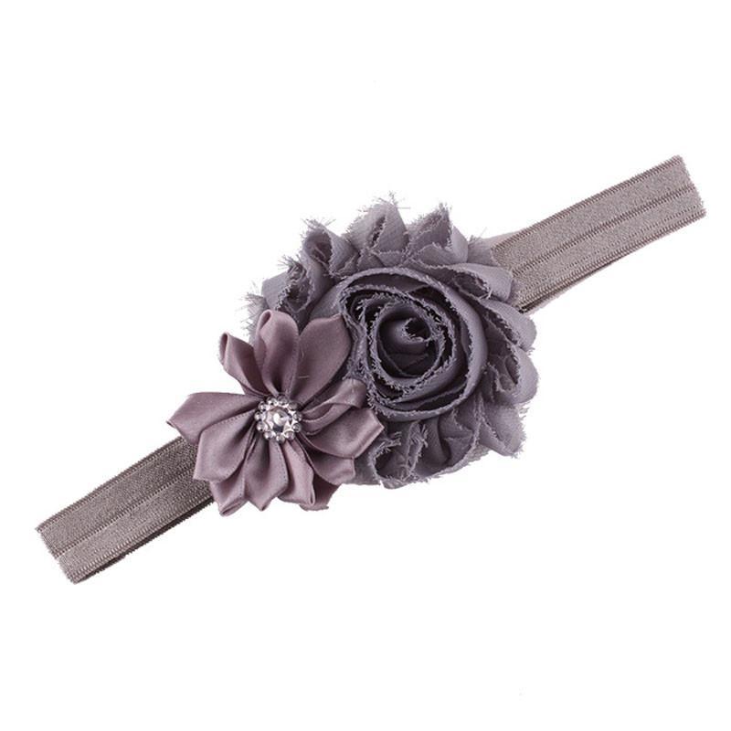 2015new 10pcs Baby Girl Elastic Multicolor Flower Headband Rhinestone Hair Band(China (Mainland))