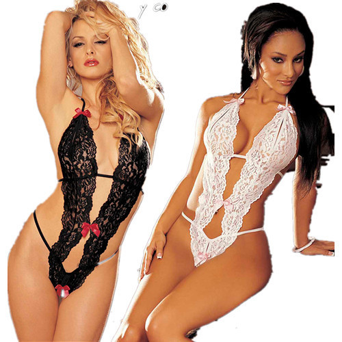 New Promotion Sexy Underwear Women Sexy Lingerie Ladies Transparent Conjoined Dress Suit Erotic Costumes Free Shipping