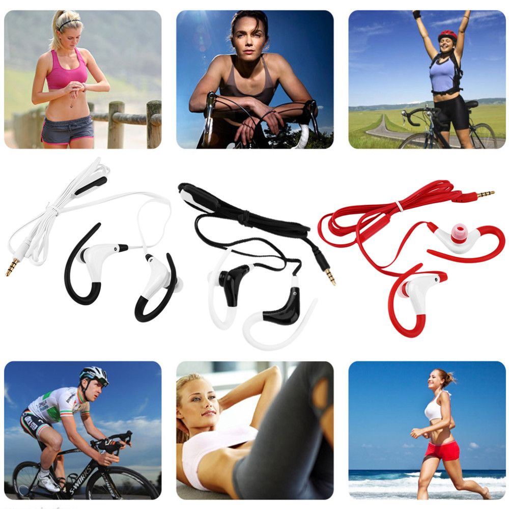 New In-Ear Sports Running Active Earphone Earbuds Hook Headset with Mic Promotion