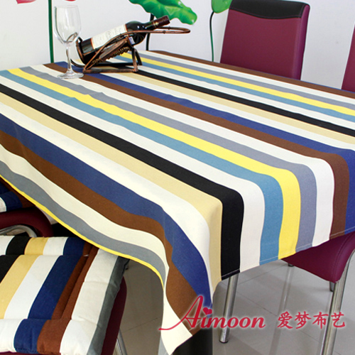 Dining table cloth tablecloth 100% thickening cotton canvas fabric for western food table cloth coffee table round table cloth(China (Mainland))
