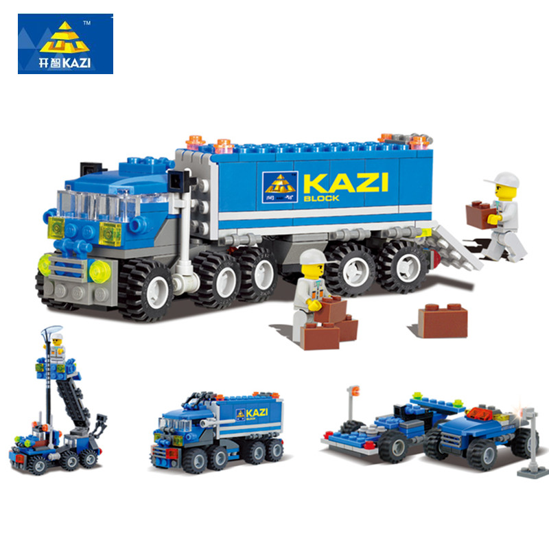 Original KAZI Enlighten 6409 Building Block Sets Child Educational Toys Dumper Truck DIY Bricks Toy Children Toys Christmas Gift(China (Mainland))
