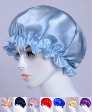1 Pc 19MM Silk Sleeping Cap Hat  Bonnet  AF496  Free shipping(China (Mainland))
