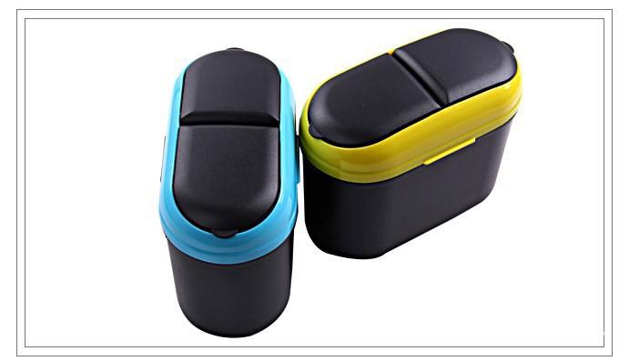 1PC New Fashion Mini Car Auto Rubbish Dustbin/Trash Can Garbage Dust Case Box/Car Storage Case/Car Trash Bin Car Accessories(China (Mainland))