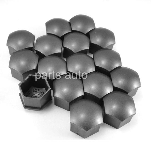 100x Wheel Lug Nut Center Cover Caps Audi A1 A3 A4 A5 A6 A7 A8 Q5 Q7 TT 321 601 173 BLH & VW Volkswagen