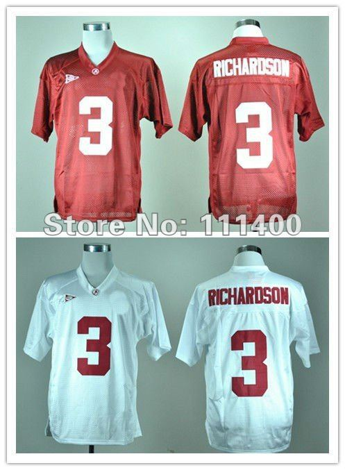 NCAA Jerseys Alabama Crimson Tide #3 Trent Richardson red/ white ncaa football jersey size 48-56 mix order free shipping(China (Mainland))