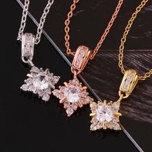 N800 European and American fashion popular women jewelry New Fashion Rose gold plated Zircon pendant necklace Necklace for women(China (Mainland))