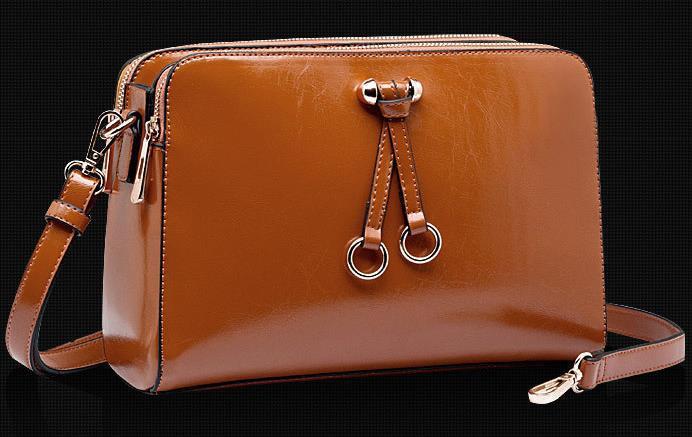 New Brand Women's Handbag PU Oil Waxing Leather Navy Bag Fashion Lady's Handbag One Shoulder Messenger Bags(China (Mainland))