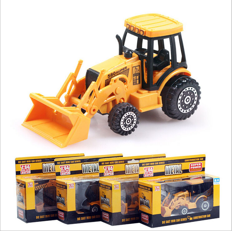 High quality 4 styles Alloy mini Construction Vehicles model children truck toys(China (Mainland))