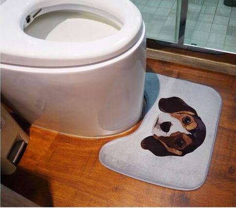 Bathroom Closestool Floor Mat 40*50CM Coral Fleece Bathroom Decoration Hotel Guesthouse Toilet Mats Non-slip Mat(China (Mainland))