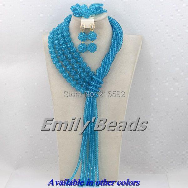 Здесь можно купить  Nigerian Wedding African Beads Jewelry Set Fashionable African Costume Jewelry Set Bridal Jewelry Set Free Shipping AJS963  Ювелирные изделия и часы