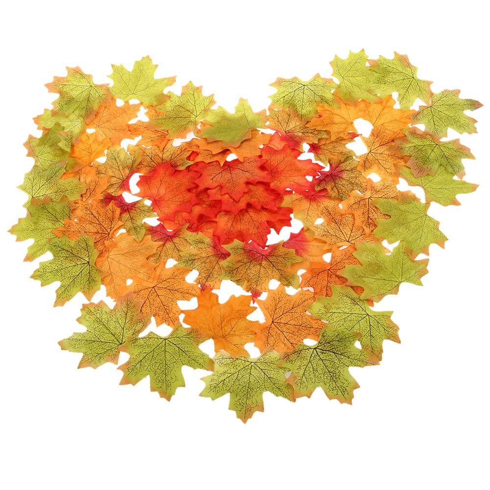 100pcs multicolor artificial cloth maple artificial leaves for Artificial leaves for decoration