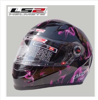 Free shipping high-grade genuine original LS2 FF358 safety helmet motorcycle racing helmet full helmet /Pink Flame(China (Mainland))