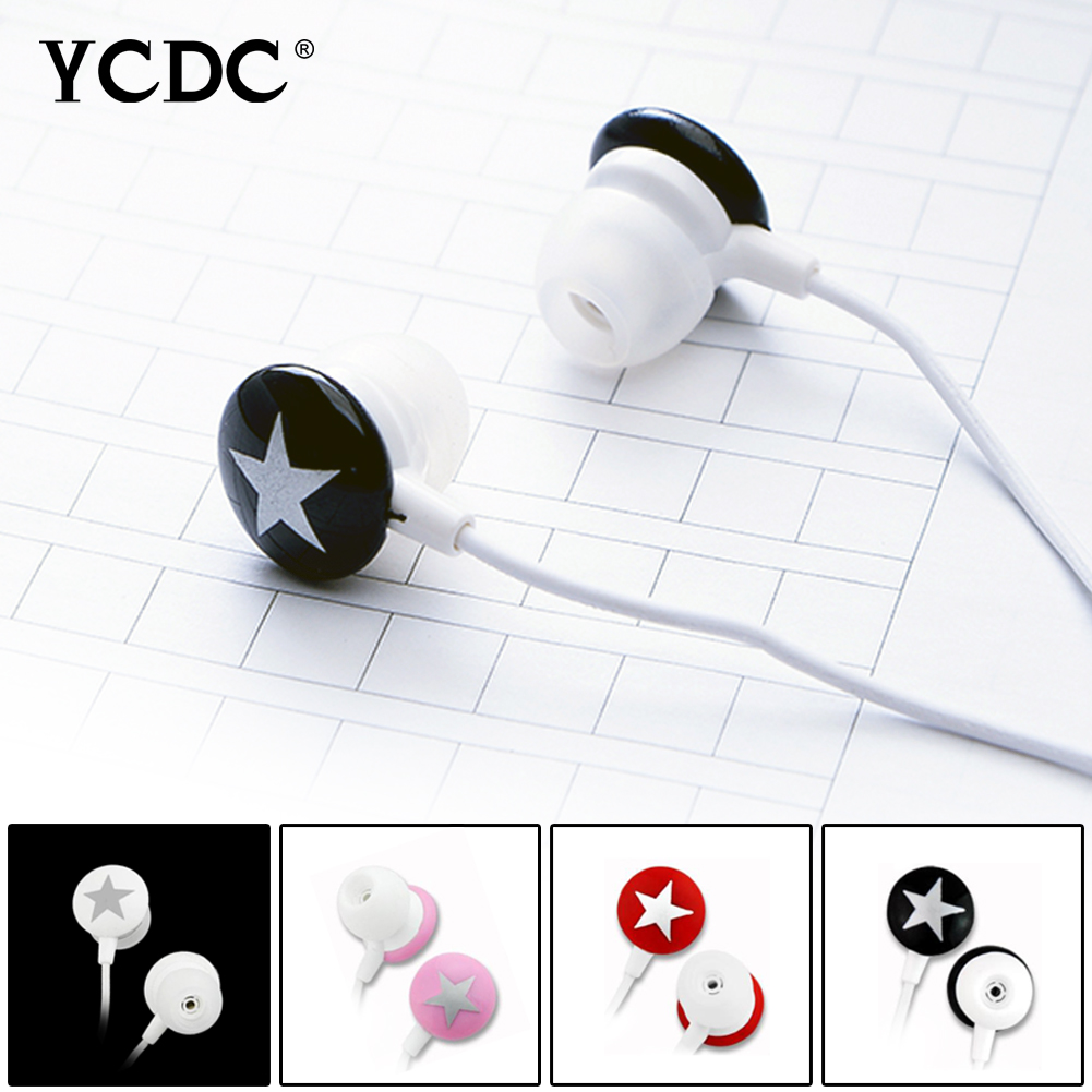 +Free shipping+ YCDC Lovely Star 3.5mm Earphone Earbud For Xiaomi HTC Samsung iPhone MP3 MP4 PC 4 Colors High Quality(China (Mainland))