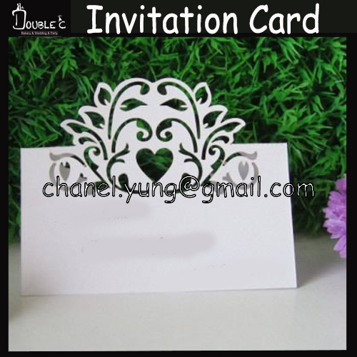 50pcs Name Place Cards Wedding Invitation Guest Names