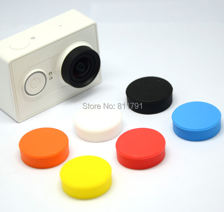 20pcs/lot XIAOMI YI Silicone Housing Lens Cover Protective Lens Dirtproof Filter Lens Cover Gopro 4/3+ Xiaomi yi Accessories