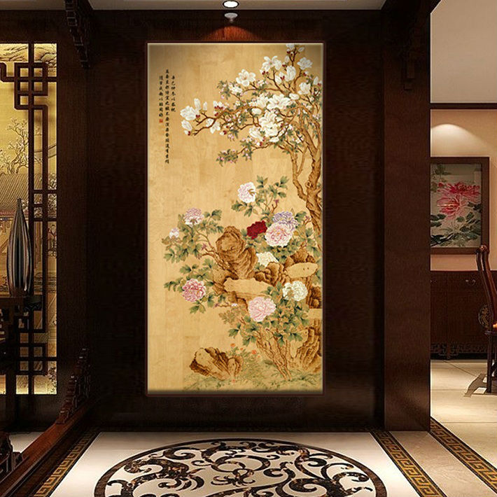 Buy bnqj handpainted traditional chinese for Asian wall decoration