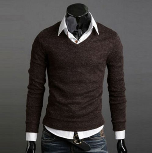 Spring / Winter matching as christmas gift sweater cardigan men Silm fit Sweater V Neck Tops Casual knitwear best with Shirts(China (Mainland))