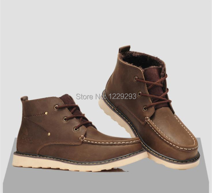 Best Selling Men's High-top Casual Shoes Male Cotton-padded Shoes Fashion Brand New Design Cowhide Leather Man Fashion Flats(China (Mainland))