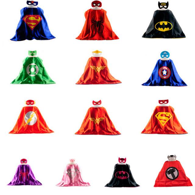 Маска + плащ супермен человек-паук дети супергерой мысы бэтмен костюм супергероя ...