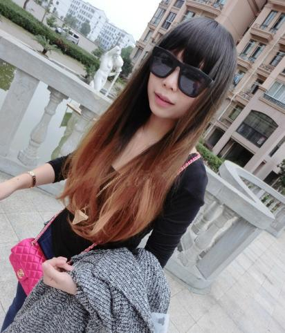 2015 Brand Straight Wigs Long Cosplay Women Synthetic Gradient Colors - HONGYAN JUST DO IT! store