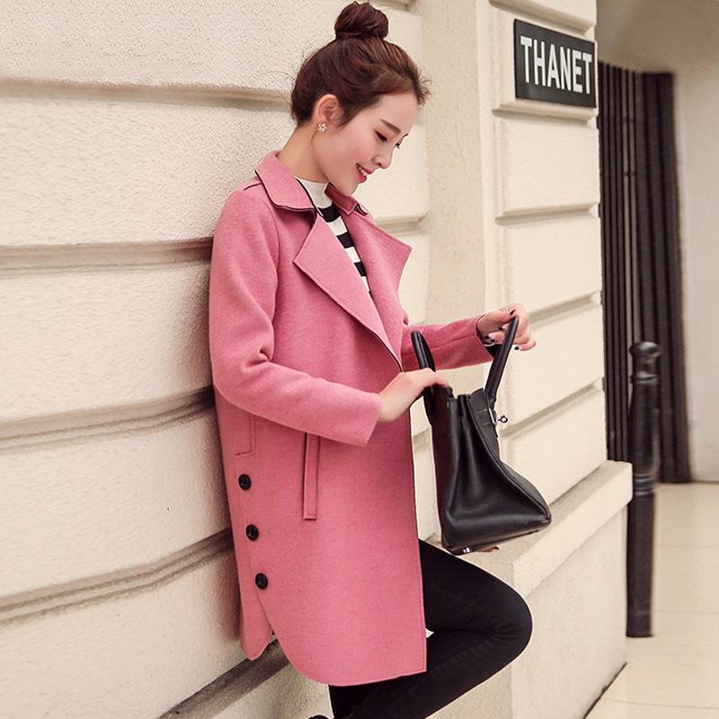 2016 Spring And Autumn Female Slim Double Breasted Long Medium-long Design Woolen Overcoat Female Trench Woolen Outerwear Одежда и ак�е��уары<br><br><br>Aliexpress