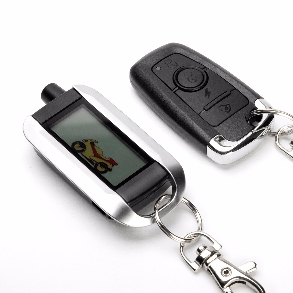 Motorcycle Alarm System Steelmate 986XO 2 Way Alarm Remote Control Water Resistant ECU Anti-theft Alarm System LCD Transmitter