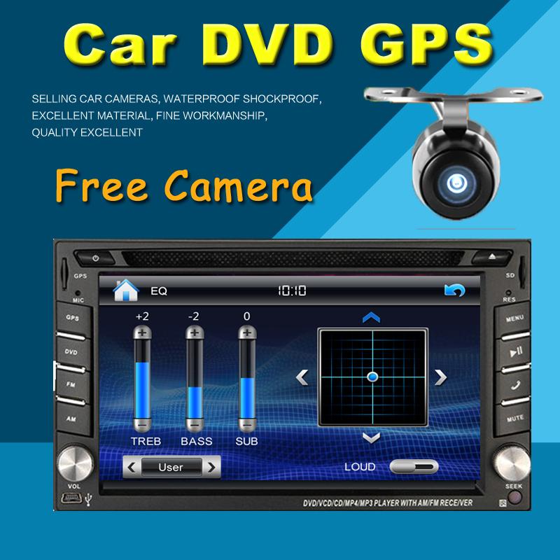 2 din car dvd player GPS USB universal car radio audio auto car parking sensor stereo in dash Bluetooth Free map+Camera For VW(China (Mainland))