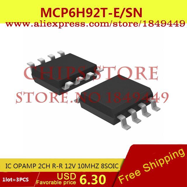 Бесплатная Доставка Регулятор Напряжения MCP6H92T-E/SN IC ОПЕРАЦИОННЫЕ УСИЛИТЕЛИ RR 2CH 12 В 10 МГЦ 8 SOIC MCP6H92T-E 6H92 MCP6H92 3 ШТ. max6225aesa t 8 soic