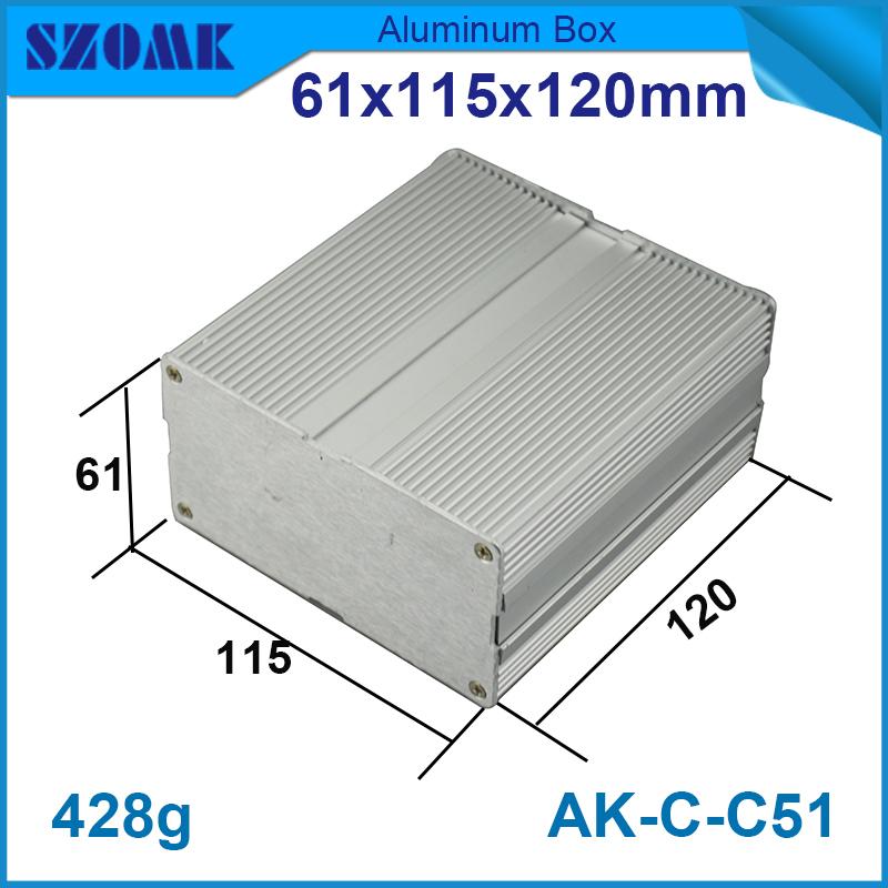 4шт/лот 61(ч)x115(Ш)x120(д) мм алюминиевый корпус высококачественный алюминий усилитель случае для WiFi коробка