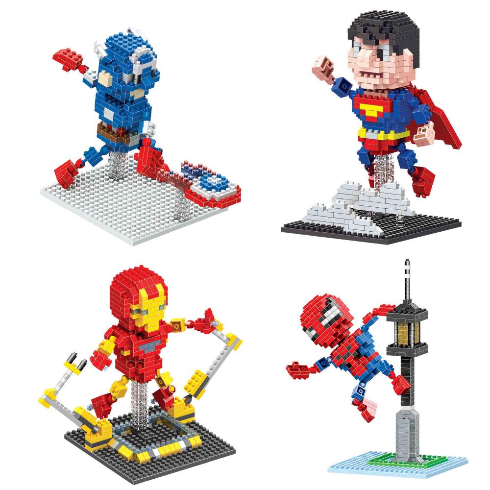 Super Heroes Minifigure Nano Block Captain American 3 Civil War Movie Figure Diamond Building Brick Toy(China (Mainland))