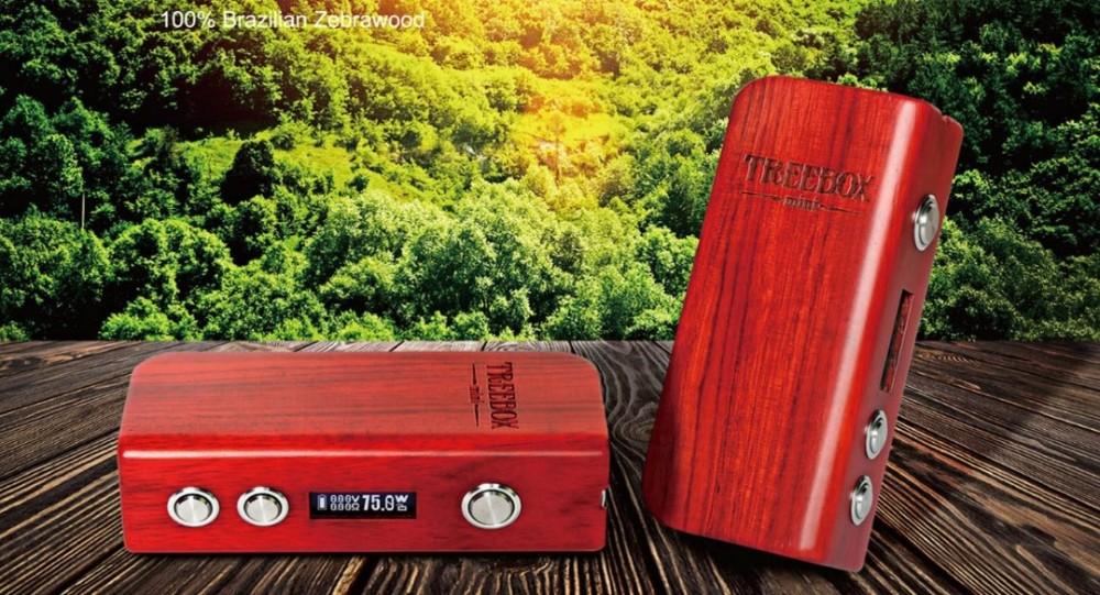 ถูก บุหรี่อิเล็กทรอนิกส์SMOK TREEBOX 75วัตต์กล่องสมัยสมัยVape Vaporizerบุหรี่อิเล็กทรอนิกส์มอระกู่อิเล็กทรอนิกส์Smoktechสมัยกล่องX9056
