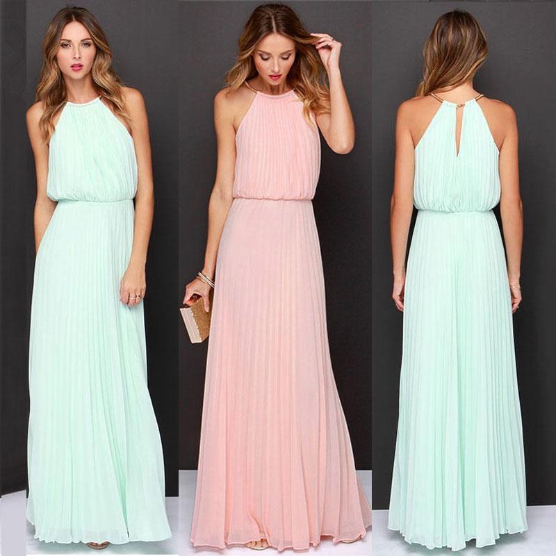 Wholesale Hot Ladies Womens Boho Dress Summer Maxi Dress Long Party ...