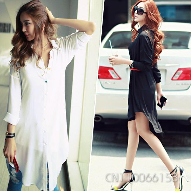 Turmec » long sleeve white dress shirts for women