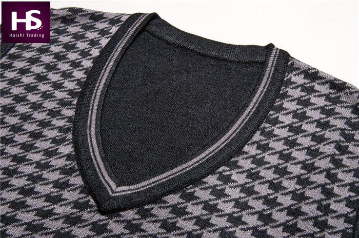 2015 New Arrival Winter Autumn Wool Vest Men V Neck Sweater Men Cashmere Pullover Men Sleeveless
