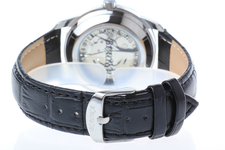 2016 Новый черный мужская Скелет Наручные Часы Кожа Антикварной водонепроницаемый Повседневная Автоматическая Скелет Механические Часы Montre Homme