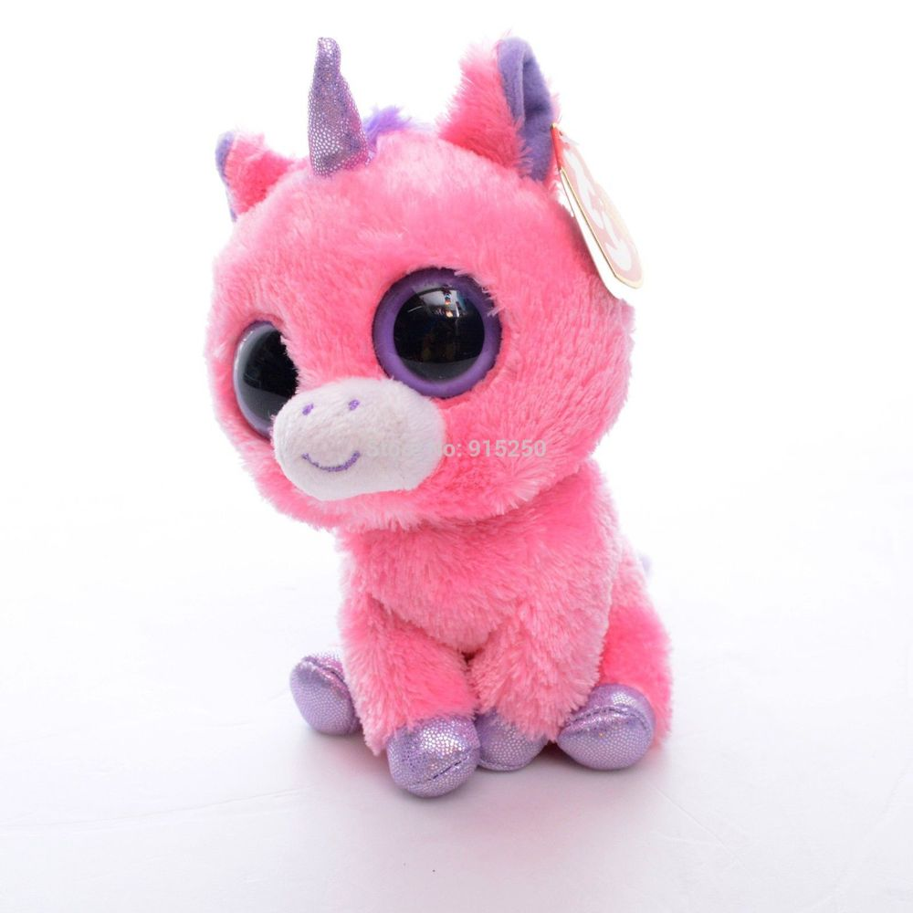 Free Shipping 5'' Original TY Collection MAGIC Pink Unicorn Plush Toys Kids Small Cute Stuffed Animals TY Toy For Gift #LNF(China (Mainland))