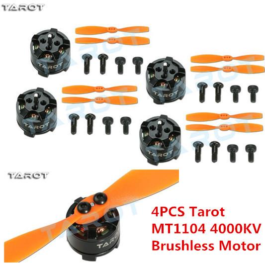 4PCS Tarot MT1104 4000KV Brushless Motor +TL150M1 propeller for FPV Multi-rotor Quadcopter<br><br>Aliexpress