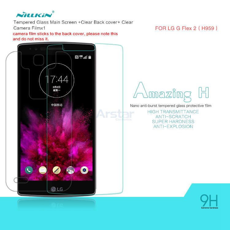 Tempered Glass Film for LG G Flex 2 Original NILLKIN Amazing H Nano Ant-burst Tempered Glass Screen Protector(China (Mainland))
