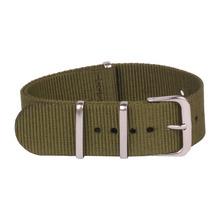 Multicolor ocasional 22 mm verde del ejército militar pulsera de reloj de la otan Nylon correa tejida de fibra de correas de reloj de 22 mm hebilla