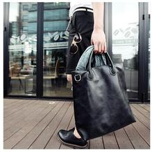 Korean Style Men Handbags Man Bags Large Shopping Bags For Boys Satchels Black Fashion Paquete Sacoche Sacs Tassen Borsetta B17