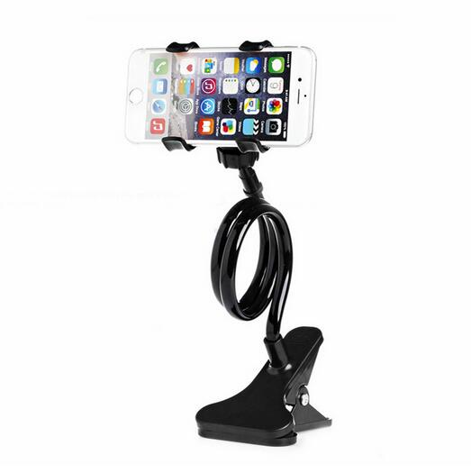 2016 New Universal Long Arm Lazy Mobile Phone Gooseneck Stand Holder Stents Flexible Bed Desk Table Clip Bracket For iphone(China (Mainland))