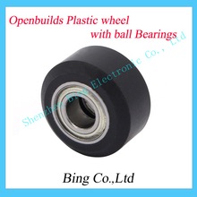 Openbuilds Plastic wheel with ball Bearings Passive Round wheel Idler Pulley Gear perlin wheel For 3D Printer Accessories